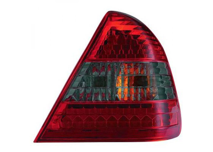 Back Rear Tail Lights Pair Set LED Clear Red Black For Mercedes W202 93-00 - 1