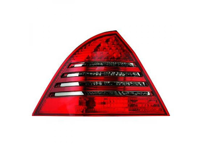 Back Rear Tail Lights Pair Set LED Clear Red Grey For Mercedes W203 Saloon 04-07 - 2