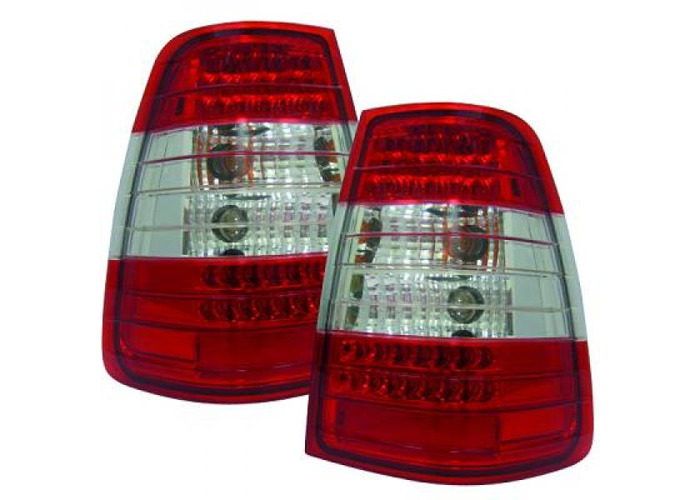 Back Rear Tail Lights Pair Set LED Clear Red White For Mercedes W124 85-95 - 1