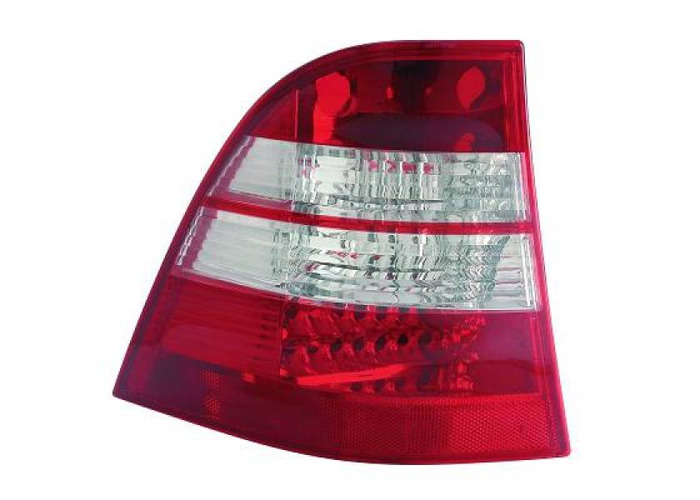 Back Rear Tail Lights Pair Set LED Clear Red White For Mercedes W163 98-05 - 1