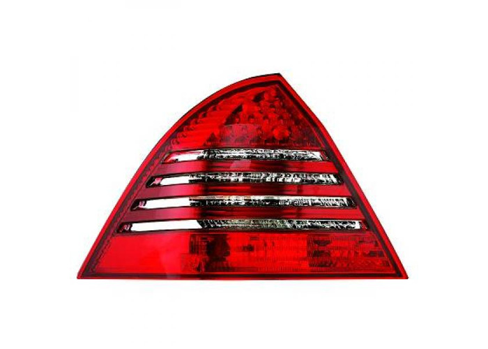 Back Rear Tail Lights Pair Set LED Clear Red White For Mercedes W203 Saloon - 2