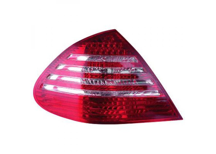 Back Rear Tail Lights Pair Set LED Clear Red White For Mercedes W211 02-06 - 1