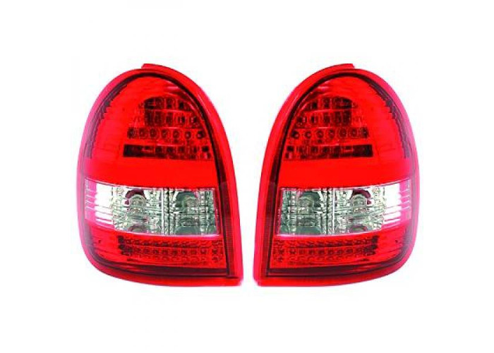 Back Rear Tail Lights Pair Set LED Clear Red White For Vauxhall Corsa B 93-00 - 1