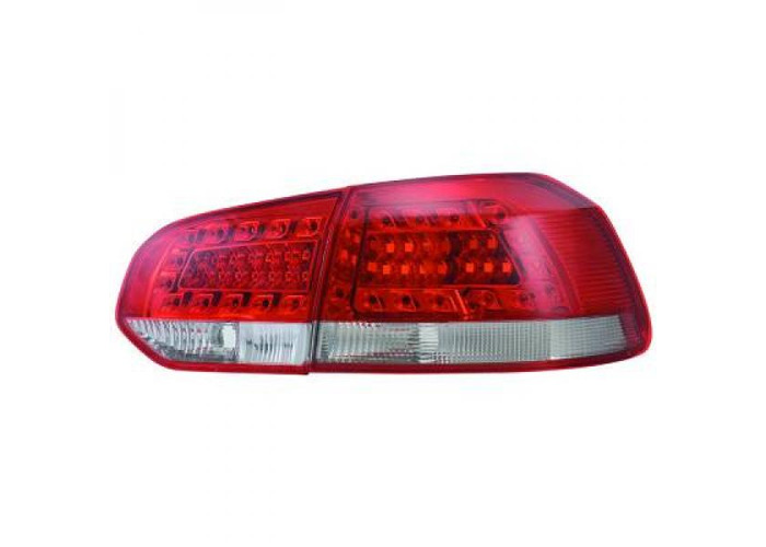 Back Rear Tail Lights Pair Set LED Clear Red White For VW Golf 6 08-12 - 1