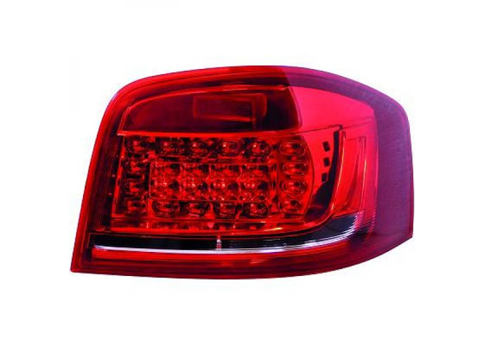 Back Rear Tail Lights Pair Set LED Red White For Audi A3 3 door 08-12 8P1 - 1