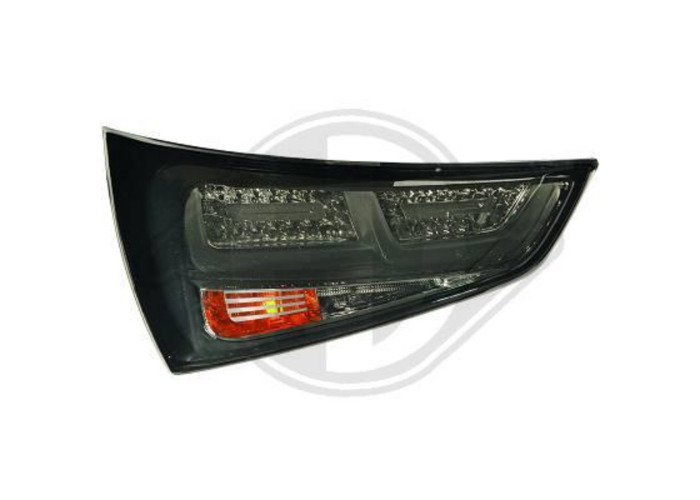Back Rear Tail Lights Pair Set LED Smoke For Audi A1 10-14 - 1