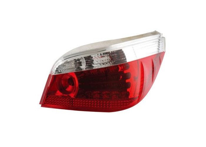 Back Rear Tail Lights Red-Clear Crystal-Look LED Pair For BMW E60 07/03 - On - 1