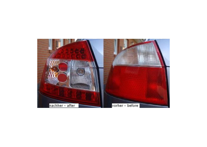 Back Rear Tail Lights Red-Clear LED Only Saloon Pair For Audi A4 8E 00-04 - 1