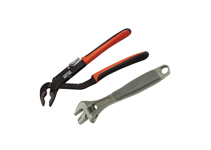 Bahco 9873 Adjustable & Slip Joint Pliers Set (2 Piece) - 1