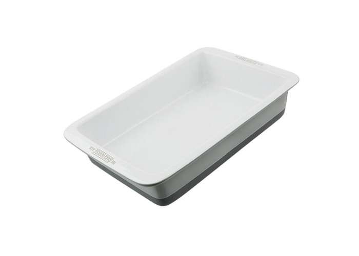 Bakehouse & Co 31cm Ceramic Rectangular Roaster - 1