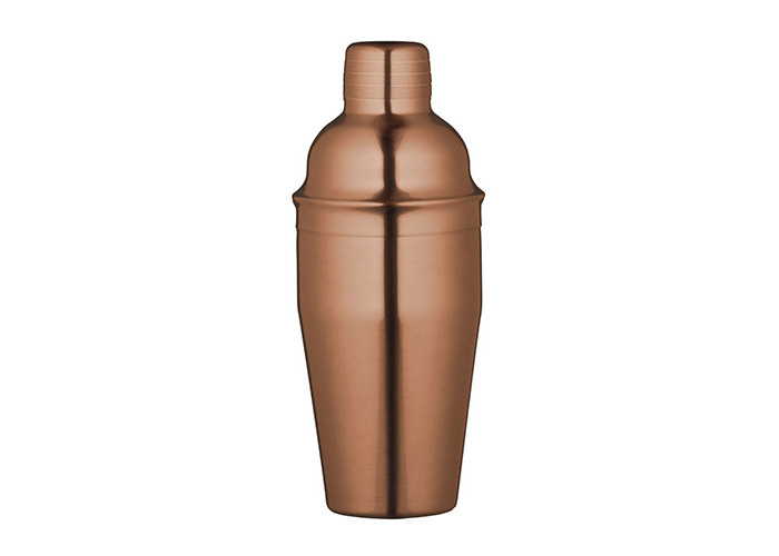 Bar Craft Luxe Lounge 500 ml Stainless Steel Cocktail Shaker, Copper - 1
