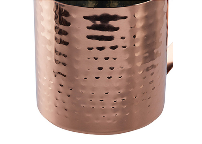 Bar Craft Luxe Lounge 550 ml Hammered Stainless Steel Moscow Mule Mug, Copper - 2
