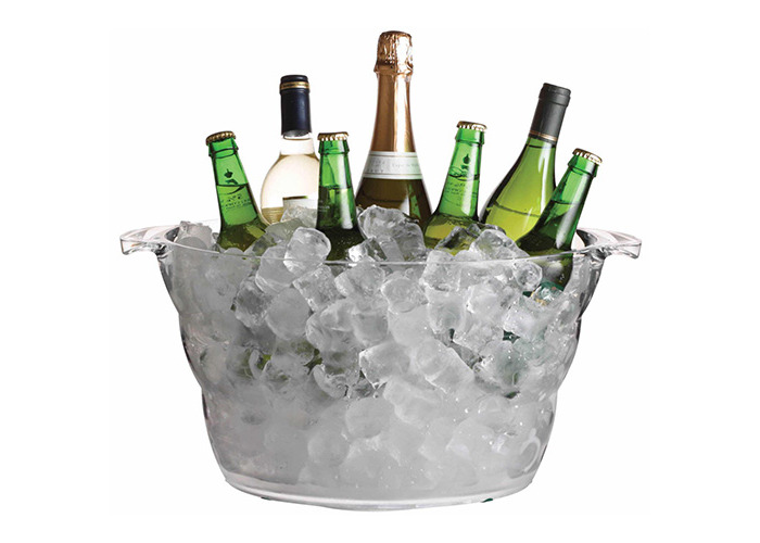 BarCraft Mix It Acrylic Large Oval Drinks Pail / Cooler - 1