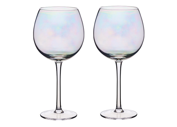 BarCraft Set of Two Iridescent Gin Glasses - 1
