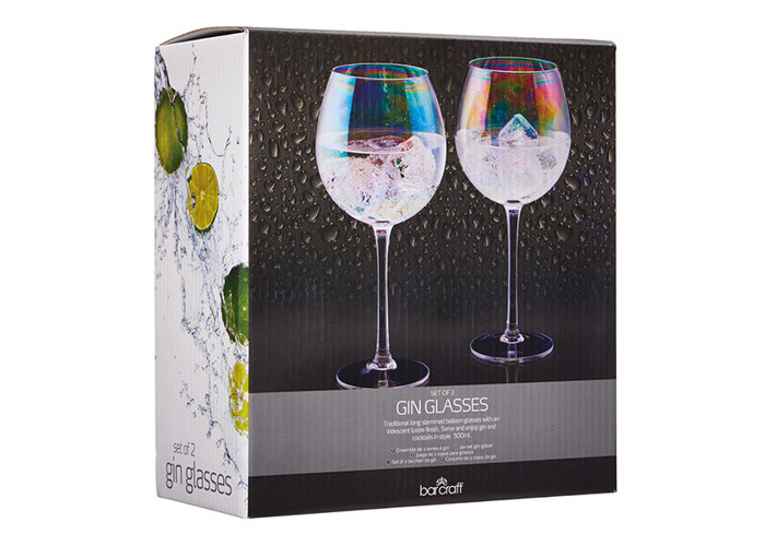 BarCraft Set of Two Iridescent Gin Glasses - 2