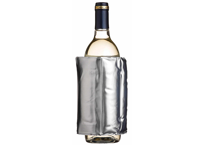 BarCraft Wrap Around Silver Wine Cooler - 1