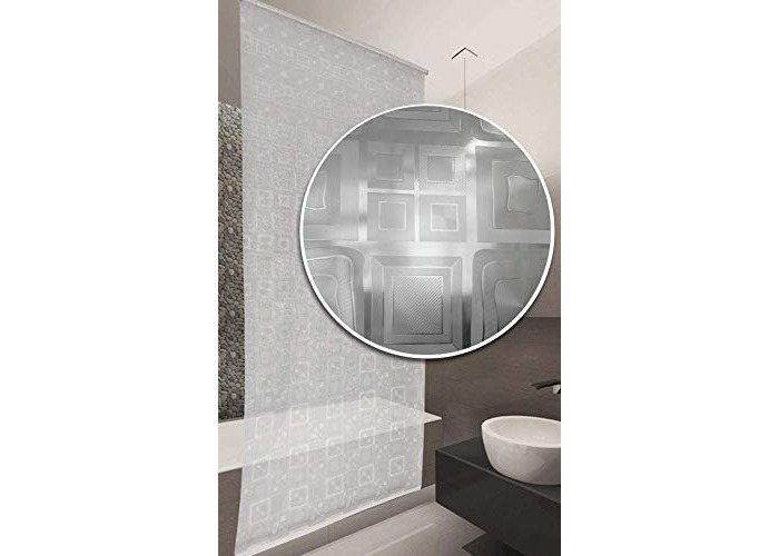 Bathroom Shower Curtain Roller Blind Extra Long, 4 Width Sizes (Wide 80 x Drop 240cm) - 1