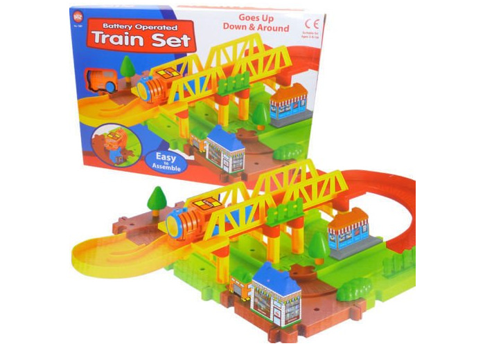 Battery Operated Train Set Kids Toy Activity made from Plastic - 1