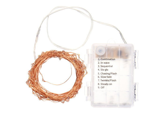 Battery Powered 10M 100LEDs Waterproof Copper Wire Fairy String Light for Christmas +Remote Control - 2