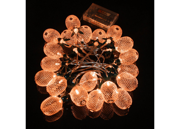 Battery Powered Warm White Metal Pineapple Shaped Indoor LED Fairy String Light for Christmas Party - 2