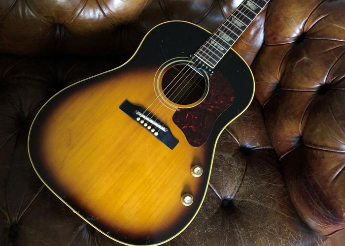 Beatles-era Gibson J-160E Acoustic Electric Guitar - 1