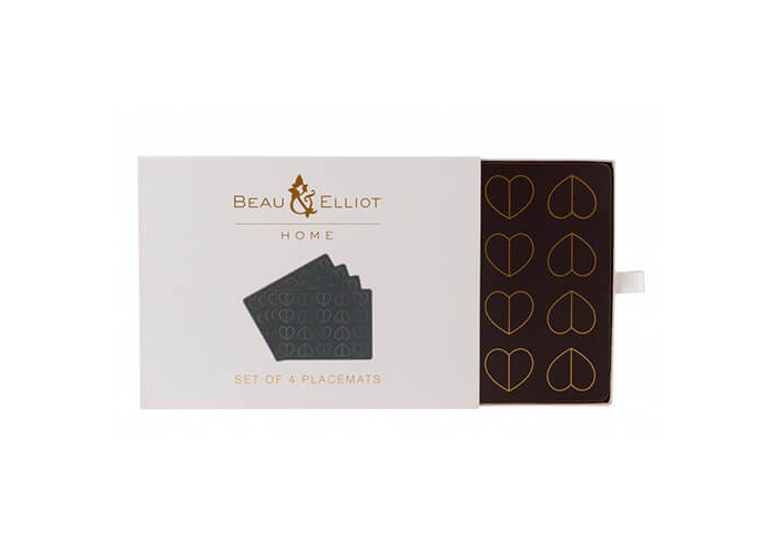 Beau & Elliot Champagne Edit Dove Set of 4 Placemats - 1