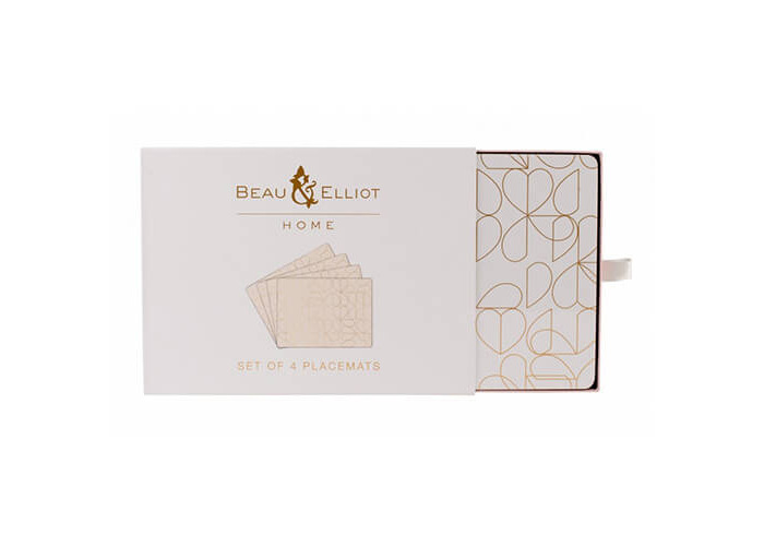 Beau & Elliot Champagne Edit Oyster Set of 4 Placemats - 1