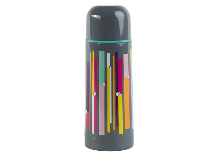 Beau & Ellliot Insulated Vacuum Flask, Grey Linear - 1