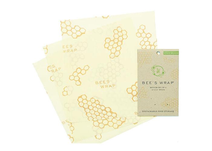 Bee's Wrap Set of 3 Wraps - Medium (25 x 28 cm), Beige - 1