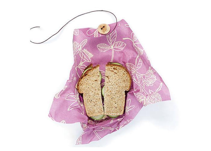 Bee's Wrap Single Sandwich Wrap, 33 x 33 cm/13 x 13 inch, Purple - 2