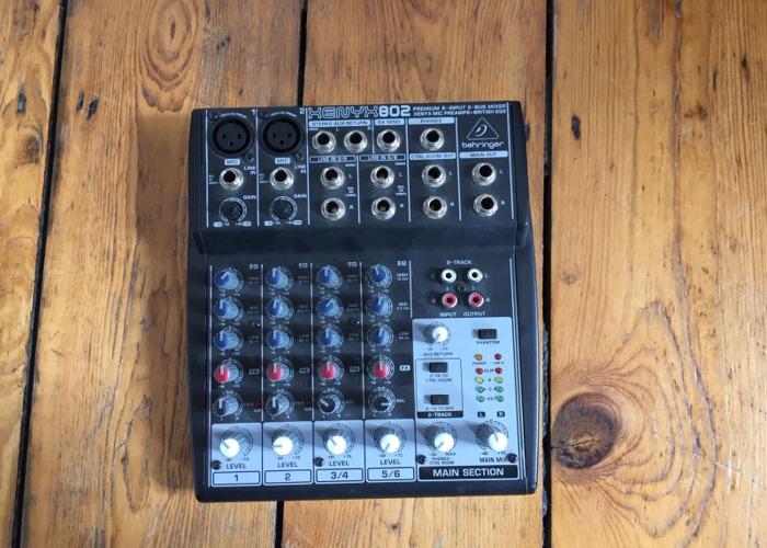 Rent Behringer 802 8 channel mixer in London