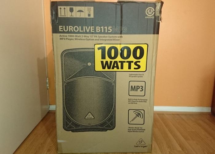 Behringer Eurolive B115MP3 PA Speaker System (1000 Watts) - 2