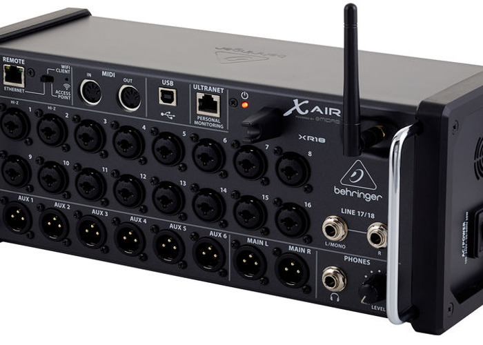 Behringer XR18 X-Air - high end iPad Controlled Wireless Mixer / Stage Box / Mixing Desk - 2
