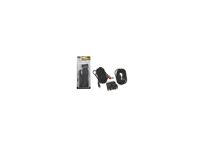 Belkin - Video / audio cable kit - S-Video / audio - 4 PIN mini-DIN, mini-phone stereo 3.5 mm , RCA - 4 PIN mini-DIN, SCART, RCA - 10 m - black - 1