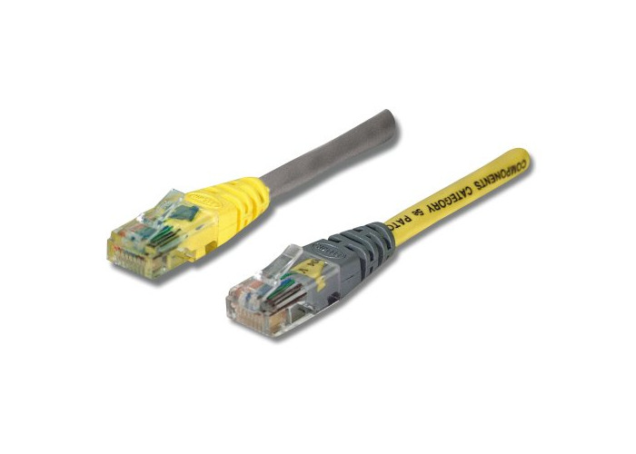 Belkin Cat5e Moulded UTP Crossover Cable (Grey Cable with Yellow Boot) 30m - 1
