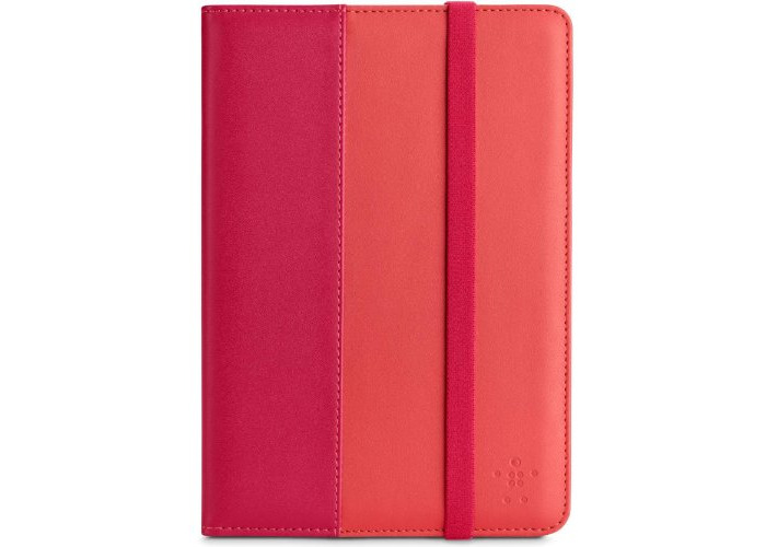 Belkin F7N037vfC01 Bookcover Verve Folio Case for Apple iPad Mini with Retina 2013 - Rot/Pink - 1