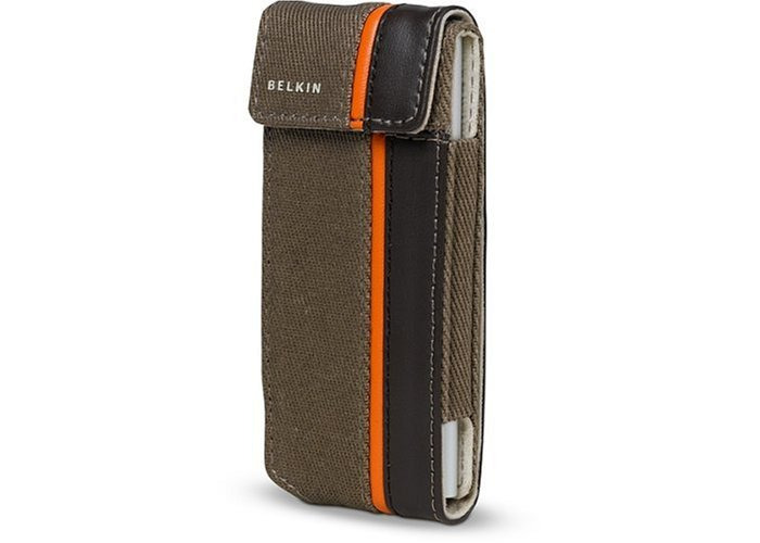 Belkin Flip Case For iPod Nano 2G - Canvas Brown/Taupe - 1