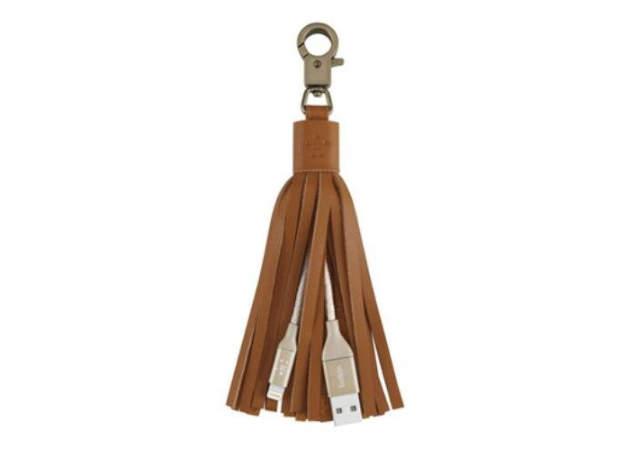 Belkin MIXIT Lightning to USB Charge and Sync Leather Tassel Keyring Cable for iPhone iPad and iPod - 1