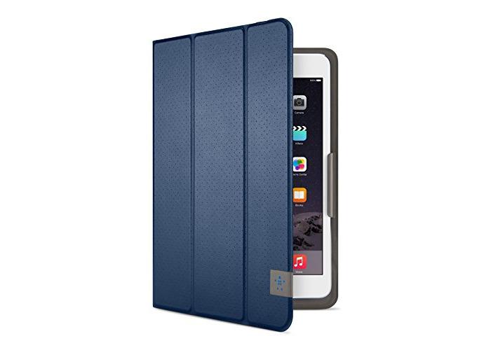 Belkin Perforated TriFold Folio Case with Multiple Viewing Angles for iPad Mini 4, iPad Mini 3, iPad Mini 2 and iPad Mini - Deep Sea Blue - 1