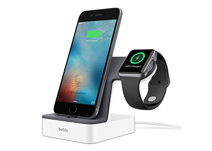Belkin PowerHouse Charge Dock for Apple Watch + iPhone, iPhone Charging Dock for iPhone XS, XS Max, XR, X, 8/8 Plus and More, Apple Watch Series 4, 3, 2, 1 - 1