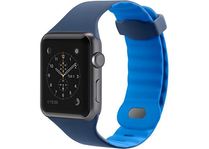 Belkin Sport Band for Apple Watch (38 mm/40 mm) - Apple Watch Sport Band for Apple Watch Series 4, 3, 2, 1 (Apple Watch Wristband) - Blue (42 mm) - 1