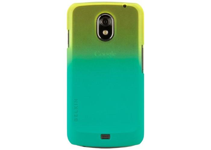 Belkin TPU Case for Samsung Galaxy Nexus - Black/Blue - 1