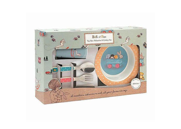 Belle & Boo 6 Piece Melamine Dinner Set - Toy Box - 1