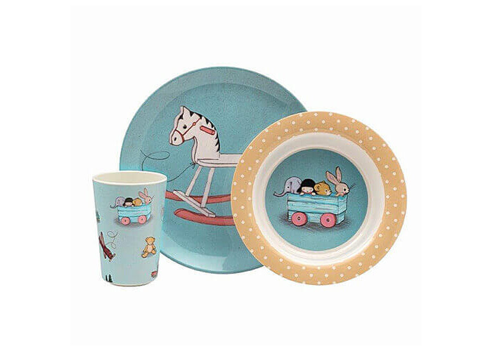 Belle & Boo 6 Piece Melamine Dinner Set - Toy Box - 2