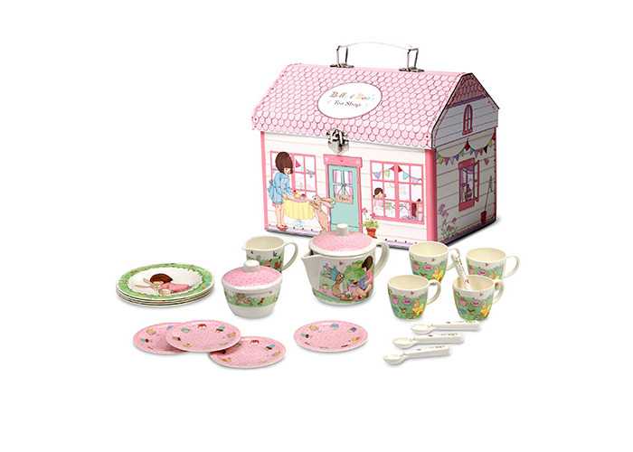 Belle & Boo CHILDRENS PLAY TEA SET IN HOUSE BOX - 1