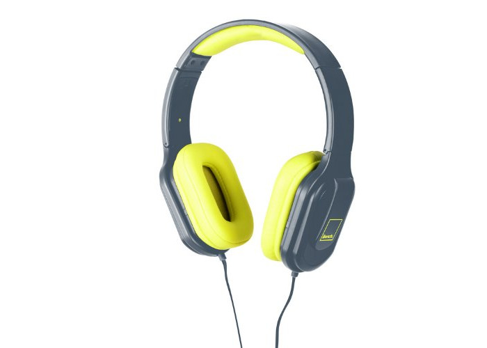 Bench Beat On-Ear Foldable Headphones with In-Line Mic - Grey/Yellow - 2