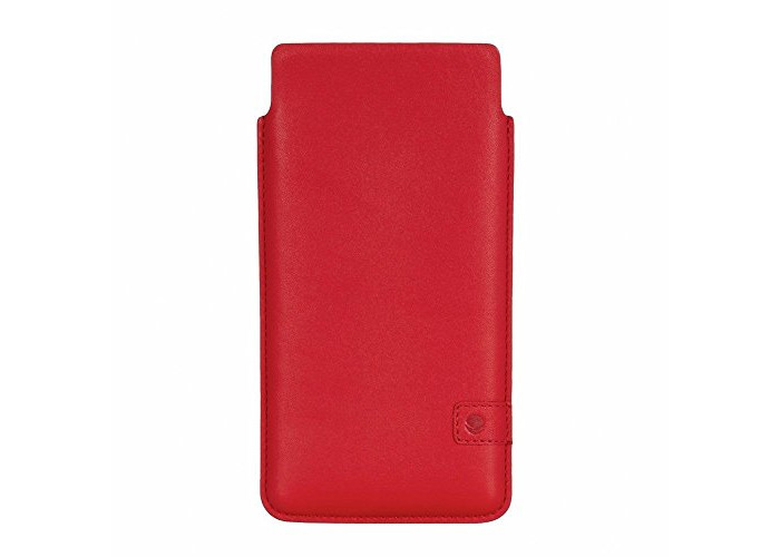 Beyzacases Genuine Leather Natural ID Slim Strap Case for Sony Xperia Z5 - Red - 1