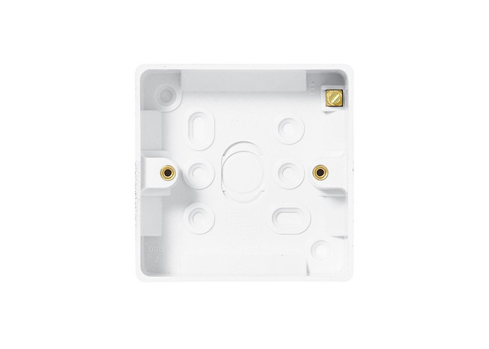BG Nexus White Moulded 1 Gang Square Surface Box, 19mm - 1