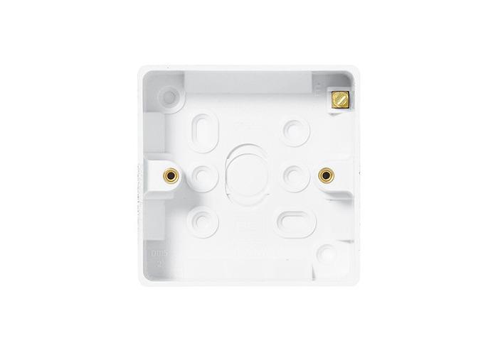 BG Nexus White Moulded 1 Gang Square Surface Box, 32mm - 1