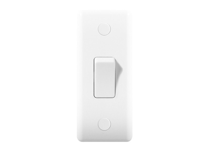 BG Nexus White Moulded 10A Architrave Light Switch - 1